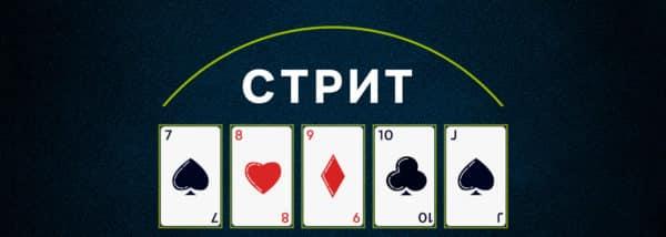 Стрит в покере.