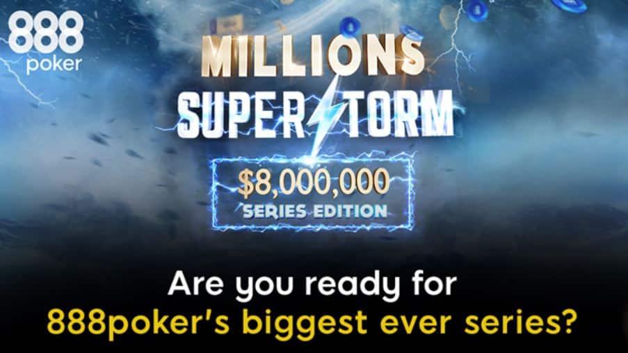 последние турниры события Millions Supersorm от 888poker